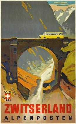 Zwitserland – Alpenposten, Wilhelm Friedrich Burger