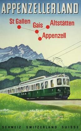 Appenzellerland – St. Gallen, Gais, Altstätten, Appenzell, W. Oberholzer