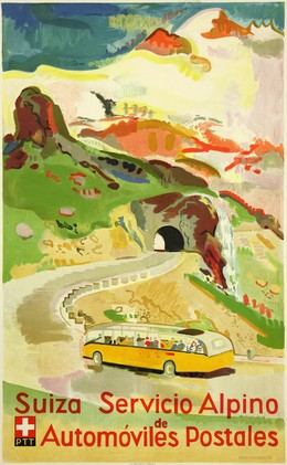 Suiza – Servicio Alpino de Automoviles Postales, Max Hegetschweiler