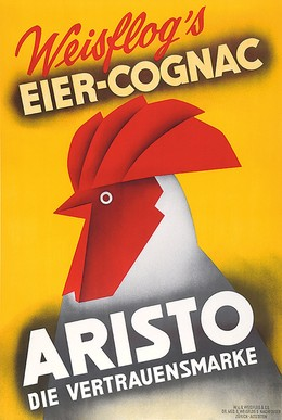 Weisflog's Eier Cognac ARISTO, Artist unknown