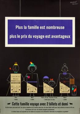 Plus la famille est nombreuse plus le prix du voyage est avantageux., Herbert Leupin
