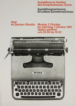 Olivetti – Kreativer Geist, marktorientierte Produktion, führender Stil, Technik von Morgen., 20. Jh. CH Hiestand VSG