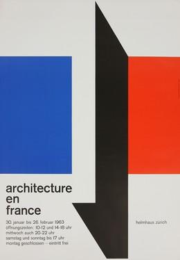"Helmhaus Zürich ""Architecture en France"", Carl B. Graf"