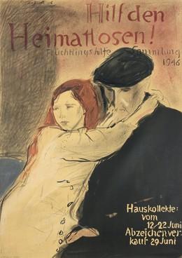 Hilf den Heimatlosen! Flüchtlingshilfe Sammlung 1946, Hans Falk