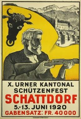 X. Urner Kantonal Schützenfest Schattdorf 1920, Heinrich Danioth