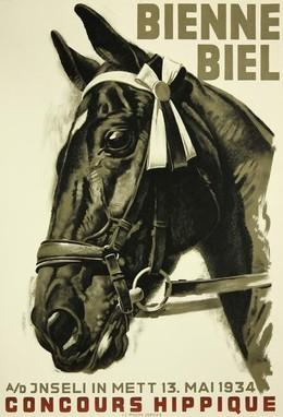 BIENNE – BIEL – Concours Hippique A/D Jnseli in Mett 1934, Iwan Edwin Hugentobler