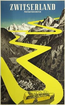 Zwitserland – Postautodiensten, Herbert Berthold Libiszewski