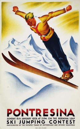 PONTRESINA – Ski jumping contest, Carl Franz Moos
