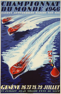 Championnat du Monde 1946 – Canots Automobiles Racers – Genève, Percial Pernet
