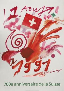 700e anniversaire de la Suisse – 1 Aout 1991, Jean Tinguely