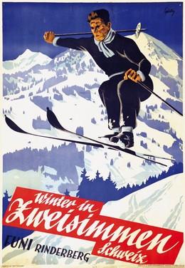 Winter in Zweisimmen Schweiz – Funi Rinderberg, Werner Gfeller