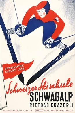 Schweizer Skischule Schwägalp – Rietbad – Kräzerli, Artist unknown