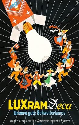 Luxram Deca – unsere gute Schweizer Lampe, Hans Tomamichel