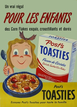 Post's TOASTIES Corn Flakes for kids, Max Dalang