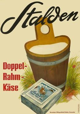 Stalden Doppel-Rahm-Käse, Dalang, Max (1882-1965), Carigiet, Alois (1902-1985)