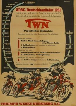 ADAC-Deutschlandfahrt 1951 – Triumph-Werke Nürnberg, R. Behringer