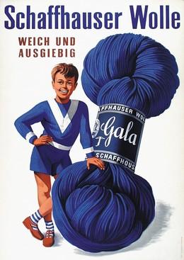 Schaffhauser Wolle – weich und ausgiebig, Artist unknown