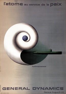 General Dynamics – L'atome au service de la paix – Hydrodynamics, Erik Nitsche