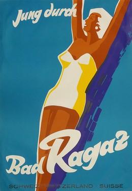 Jung durch Bad Ragaz – Schweiz Switzerland Suisse, Artist unknown