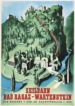 Seilbahn Bad Ragaz Wartenstein, Artist unknown