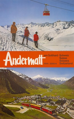 Andermatt am Gotthard – 1444–3000 m., Bosshard, Arnold (1898-1974) / Borelli, W.