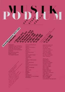 Musik Podium der Stadt Zürich – Generalprogramm 1979 / 1980, Odermatt, Siegfried / Tissi, Rosmarie