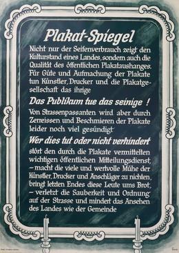 Plakat-Spiegel, Herms