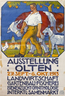 Ausstellung Olten – Landwirtschaft – Gartenbau – Bienenzucht – Fischerei – Ornithologie – 1913, Henziross E.
