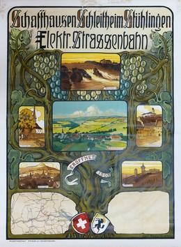 Schaffhausen Schleitheim Stühlingen – Elektrische Strassenbahn – Eröffnung 1905