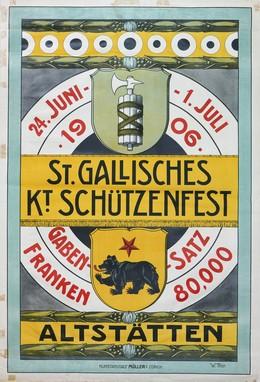 St. Gallisches Kantonales Schützenfest 1906 in Altstätten, W. Thür