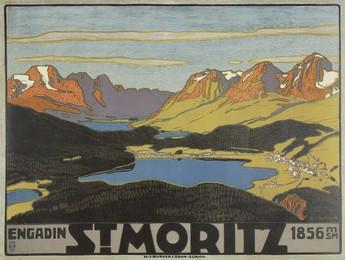 St. Moritz – Engadin – 1856 msm, Wilhelm Friedrich Burger