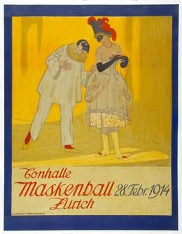 Tonhalle Maskenball Zürich – 28. Febr. 1914, Emil Cardinaux