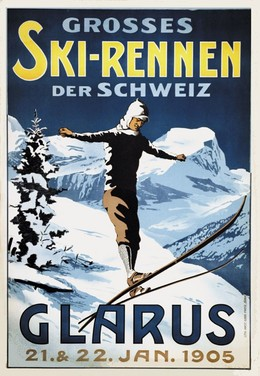 Grosses Skirennen Glarus 1905, Artist unknown