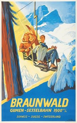 BRAUNWALD – Gumen-Sesselbahn 1900 m.ü.M. Schweiz Suisse Switzerland, Eric de Coulon