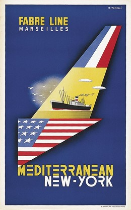 FABRE LINE MARSEILLES Mediterranean NEW YORK, J. Tonelli