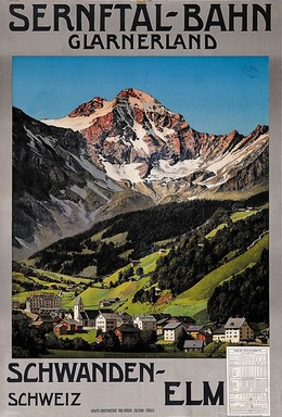 SERNFTAL-BAHN GLARNERLAND – Schwanden-Elm Schweiz, Artist unknown