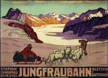 Jungfraubahn Station Jungfrau Joch, Aletsch Gletscher, Wilhelm Friedrich Burger
