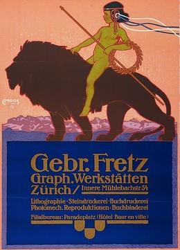 Gebr. Fretz Graph. Werkstätten Zürich, Carl Franz Moos