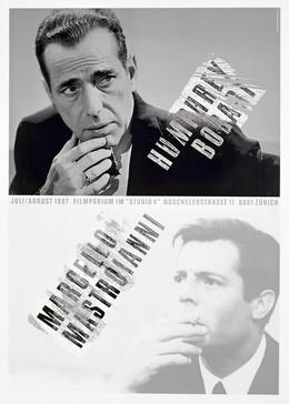 Filmpodium Zürich – Marcello Mastroianni / Humphrey Bogart, Ralph Schraivogel
