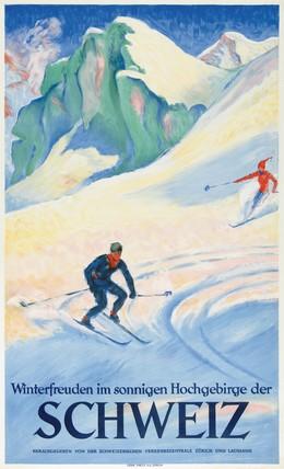 Winterfreuden im sonnigen Hochgebirge der Schweiz, Hugo Laubi
