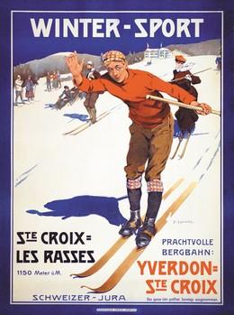 Winter-Sport – Ste. Croix-Les Rasses, Edouard Elzingre